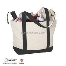 Newway Factory China Custom Fairtrade Cotton Shopper Bag With Gusset