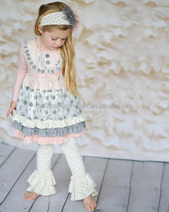 Bulk wholesale kids autumn 2015 clothes sets boutique baby winter wear outfits cute remake fall sets