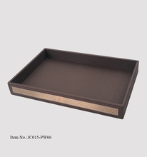 Factory wholesale rectangular large unique leather food serving tray