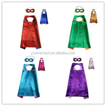 Christmas Festival Child Super Costume Capes/Cape and Mask Set for Kids/Birthday Party DIY Children Capes