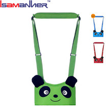 Cute panda and frog design cheap safety baby walking belt, custom baby walking assistant