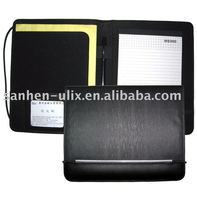 Synthetic leather portfolio with Elastic Band