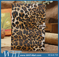 Leopard Grain Luxury Stand Flip Leather Case for iPad Air 5
