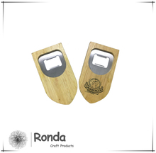 Custom Shield shape wooden bottle opener with magnet,Fridge beech/pine magnetic bottle opener for promotion gift