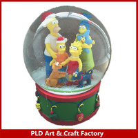 Resin Christmas snow globe/Cartoon Design snowglobe