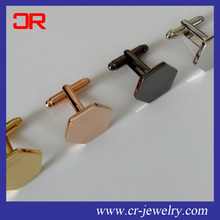 Custom shape and color metal brass cufflinks blank for men