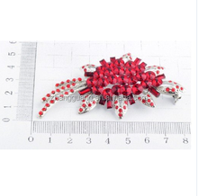 Fashion jewerly showcase wholesale/red flower brooches