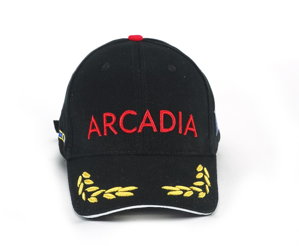 Fashionable baseball cap with logo embroidery