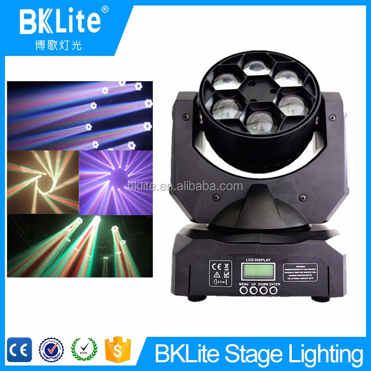 2017 hot sale 6X15W bee eye rgbw led beam moving head light 4in1
