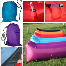 Fast Inflatable Lounger Square Head One Hole Lazy Bag Sleeping Bag Camping Air Sofa Sleeping Beach Bed Lounge Bag Air Bed Loung