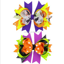 Halloween Spider bow with European bat elastic headband hair headdress for holiday Wholesale custom baby headwear
