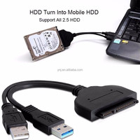 "USB 3.0 to SATA 22Pin Adapter Converter Cable for 2.5"" HDD SSD Power Cable"