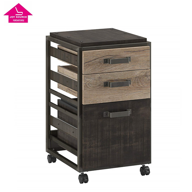 <strong>Antique</strong> Appearance Retro industrial <strong>style</strong> Refinery Lateral File 3 drawer Cabinet in Rustic Gray