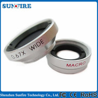 2 in 1 0.67x wide angle macro lens magnetic lens for Samsung Galaxy S6 S3 S4 S5
