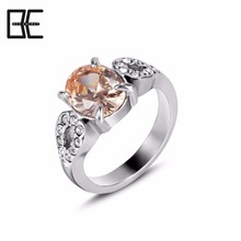 Fashion Jewellery Titanium Natural Gemstone Ring Titanium Body Jewelry Magnetic Crystal Ring
