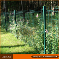 Hot dipped galvanized 3 folds curved welded steel garden wire mesh fence