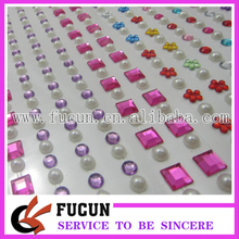 Free shipping self Adhesive rhinestone Stickers pearl gem Stickers