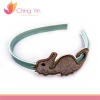 Glitter PU Leather Sea Horse Head Band Fashion Hair Band Latest Hair accessories