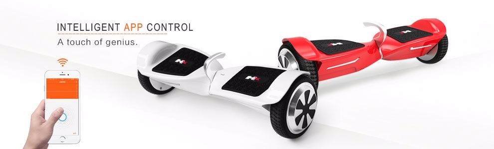 2017 New APP control two wheel smart self balancing hoverboard electric scooter with bluetooth speakers