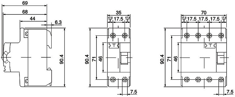 rccb residual current circuit breaker rccb 4p