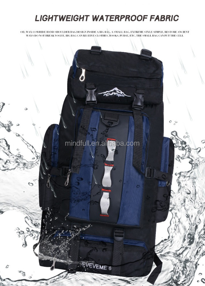 OUTDOOR HIKING CAMPING CLIMBING 60 L WATERPROOF PROFESSION BACKPACK MOUNTAINEERING BAG