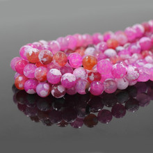 Hot Sale Cheap Faceted Stone Pink Mexican Fire Agate