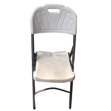 Portable folding plastic bistro white metal restaurant chairs china