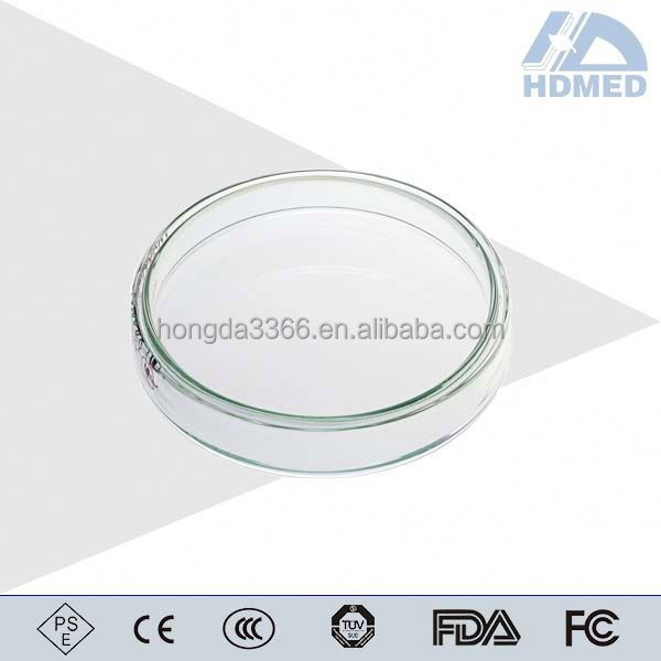 HDMED high quality GlassPetri Culture Fish Glassware Petri Dishes