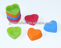 small heart shaped silicone mini cupcakes cake muffin pudding jelly baking cup pan mold mould mode bakeware