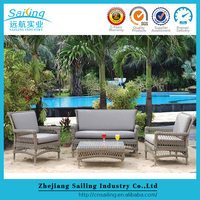 Deluxe Wicker Furniture Large Set Rattan Corner Garden Modern Patio Sofa Design