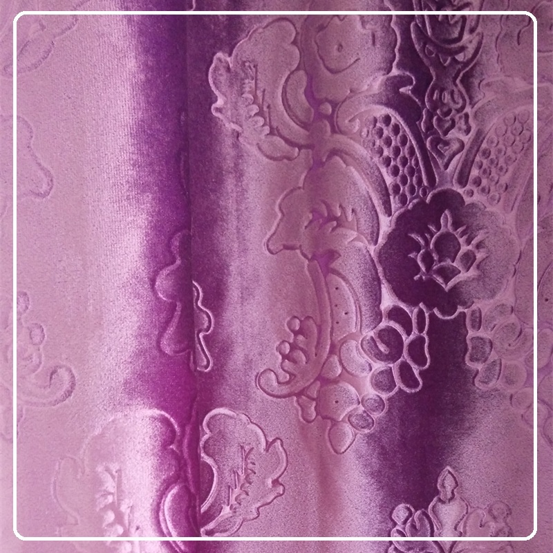 Polyester Italy velvet for sofa cover/window curtains