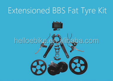 8FUN BAFANG BBS 36V 250W MID CRANK MOTOR KIT FOR SNOW FAT TIRE ELECTRIC BIKE