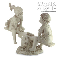 Customized Hand Carving Life-Size Marble Stone Children Statues