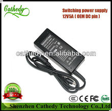 12V 5A AC Adapter (power supply) For LCD Monitors and LCD TVs, Brand new with UK standard power lead