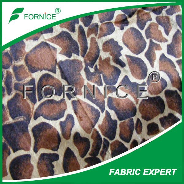 100% polyester 2.5mm furniture turtle print velboa fabric