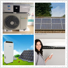 popular sale around the world 100% hybrid solar air conditioner with high efficiency ,5200W/18000BTU