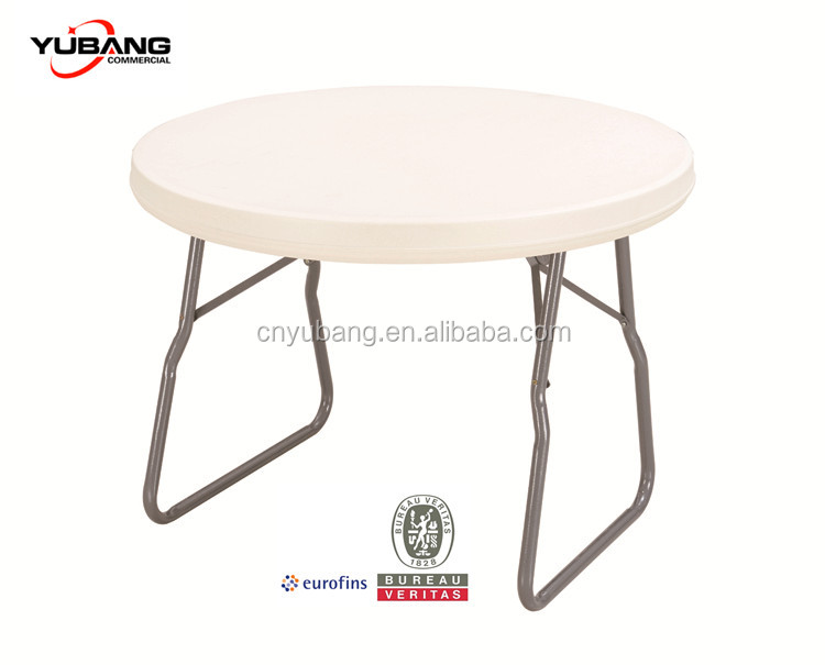 3ft Round Folding Table with Umbrella Hole