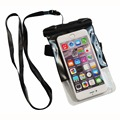 fashion waterproof dry plastic bags with Armbrand and Lanyard for cellphones
