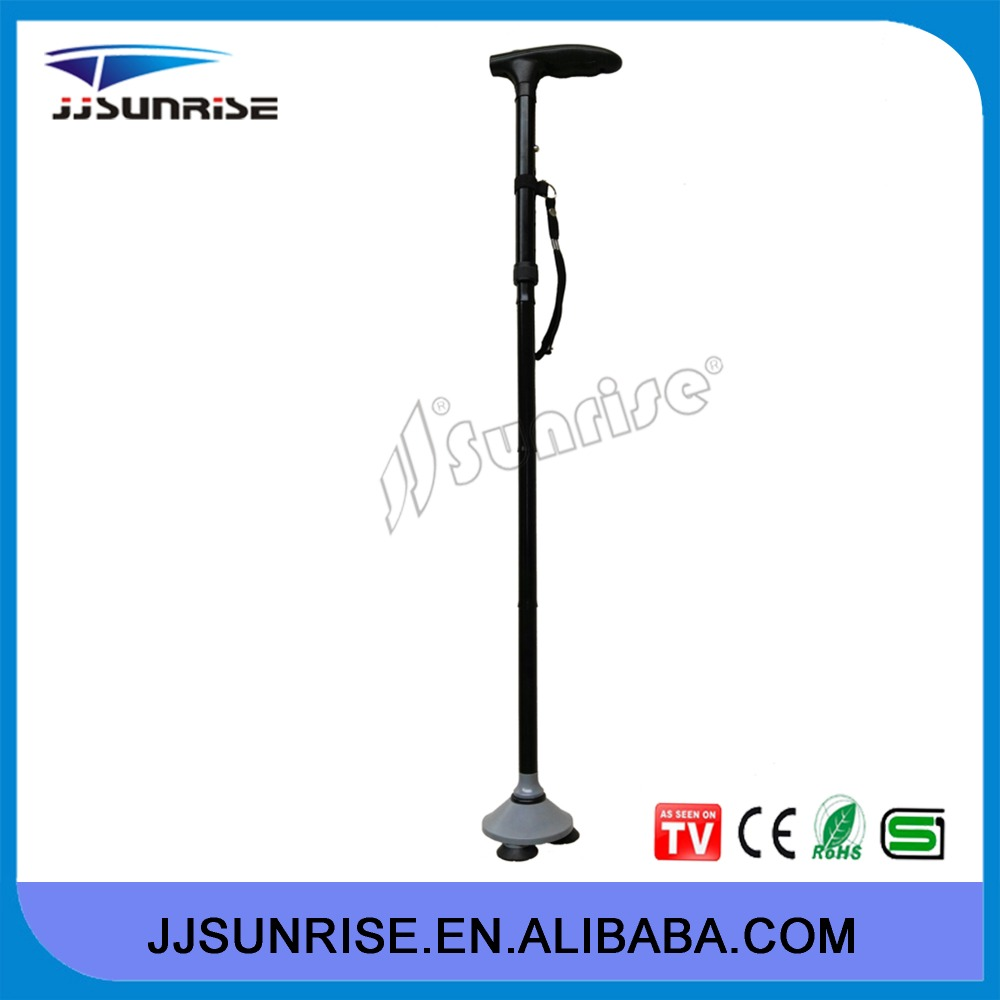 2015 new adjustable electronic folding elderly walking stick cane with built-in lights as seen on TV
