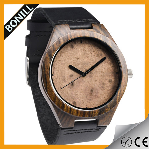 Vogue wood watches custom your logo cheap oem leather watch manufacturer