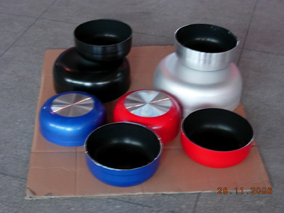 color painted non-stick aluminium sauce pot