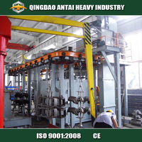 Hanger chain bead blasting machine