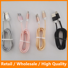 Fast Charging Cable Nylon Type C Magnetic Cable 1M Woven Phone Charger for Samsung Type C Phone Cable