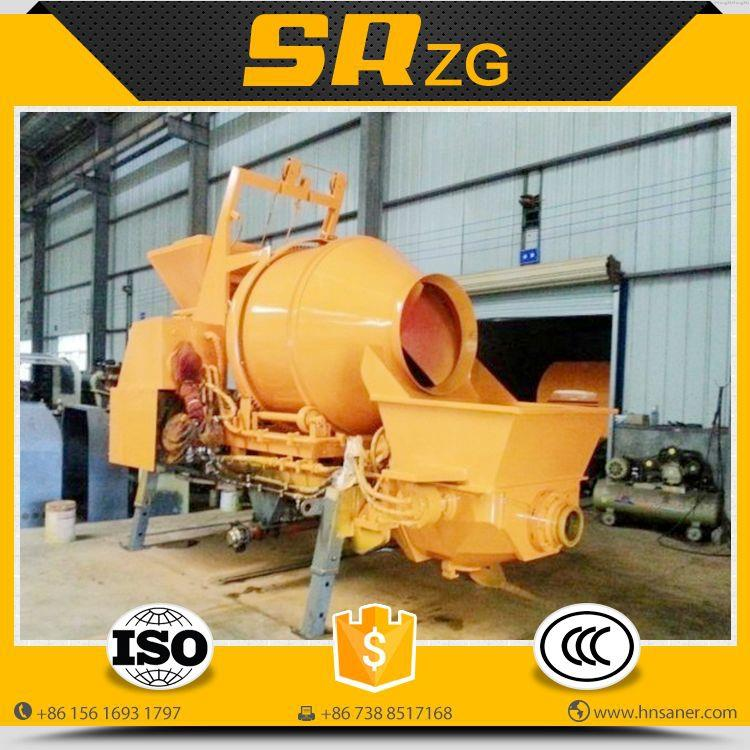 Contemporary hot sell concrete mixer and pump diesel machine
