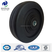 Cheap chinese wheel 3 inch rubber wheels small size for shopping trolley