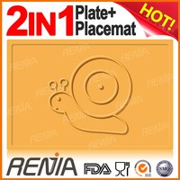 RENJIA placemat dining silicone food plate baby children silicone drawing placemat