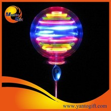 Custom LED light up spinning ball