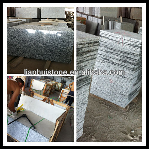 Chinese cheap Spray White polished granite tiles