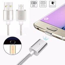 2017 Gold Supplier Customized Magnetic Usb Cable For Charging And Sync With Led Light For Android