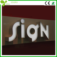 Shining Bright Luxurious LED acrylic wall sign